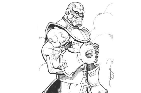 awesome fortnite coloring pages thanos