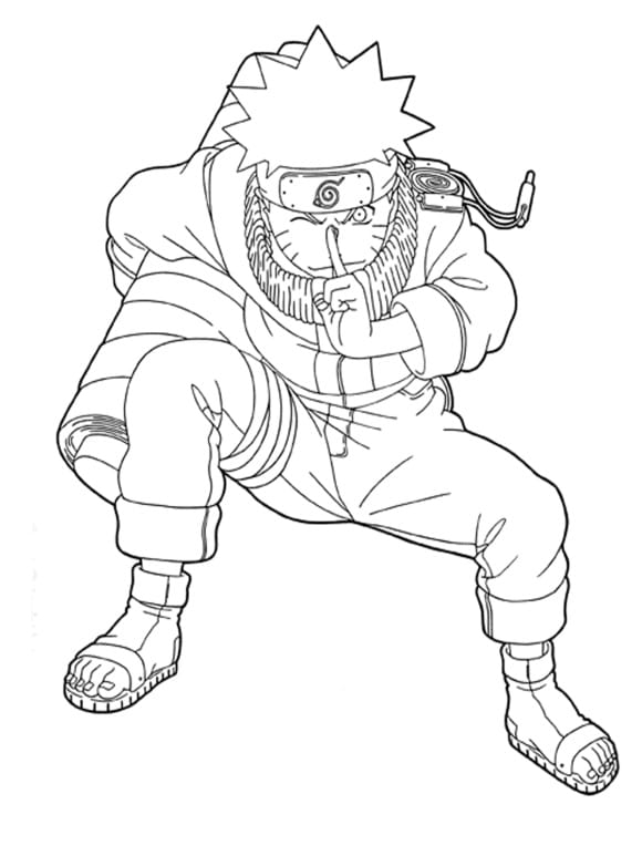 awesome naruto coloring pages