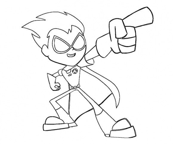 awesome teen titan go coloring page printable