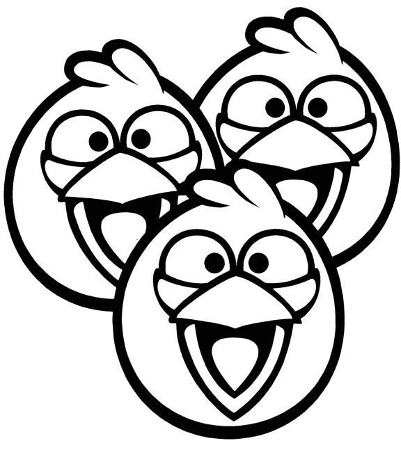 beautiful coloring page angry bird free