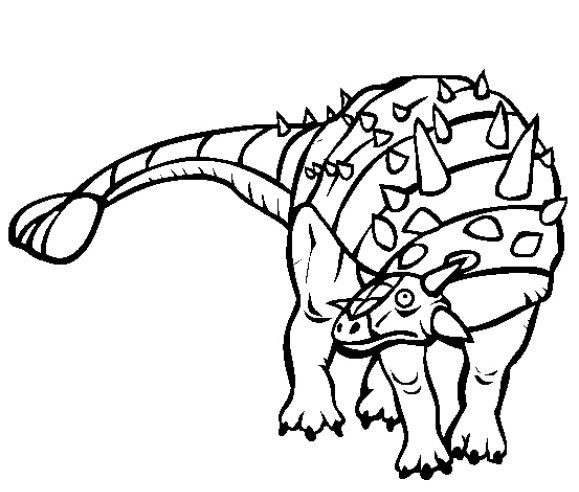 beautiful coloring page dinosaur 1