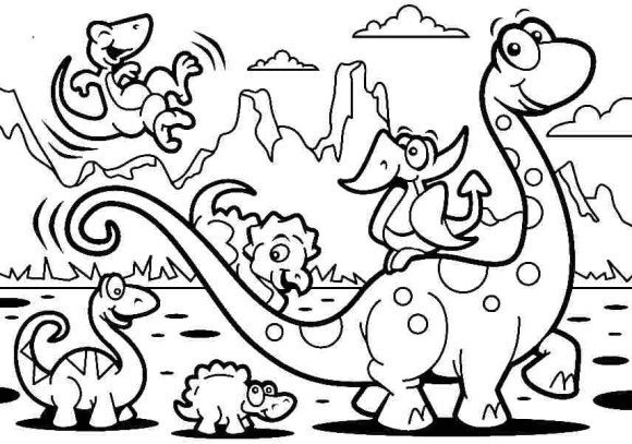 beautiful coloring page dinosaur