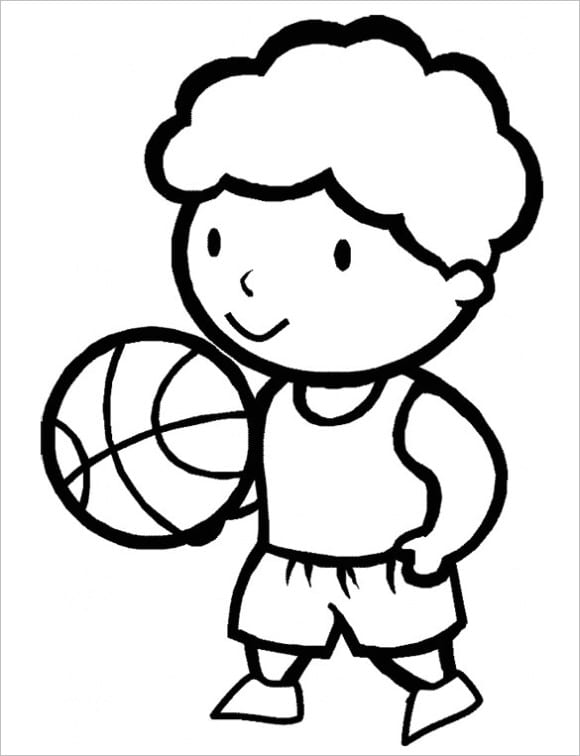 best of coloring page basketball free 1