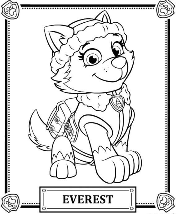 best of coloring page paw patrol free 1