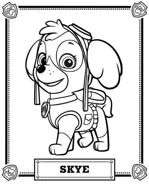 best of coloring page paw patrol free
