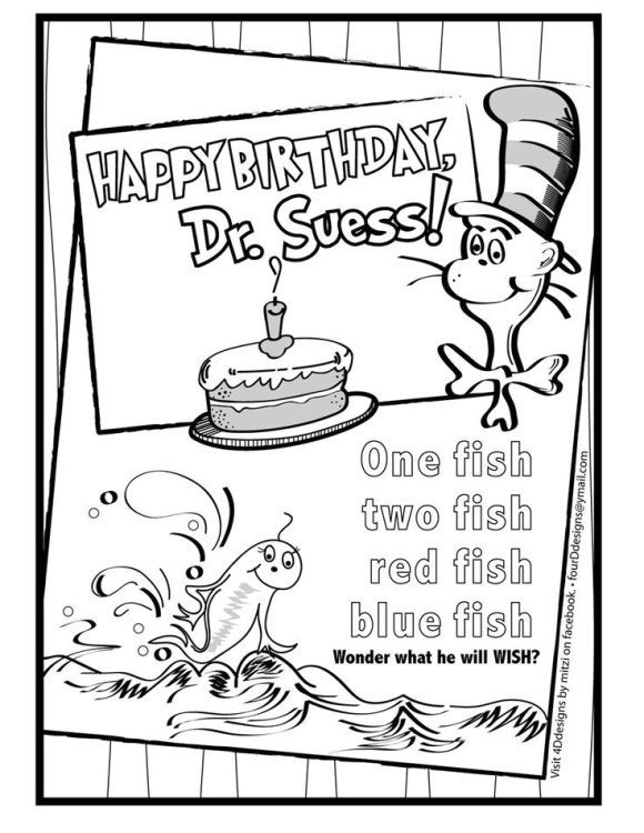 best of dr seuss coloring page free
