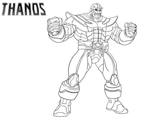 Fortnite Coloring Pages Thanos