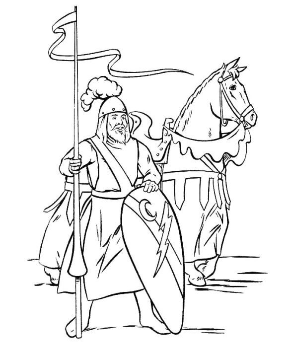 Coloring Page Knights Free