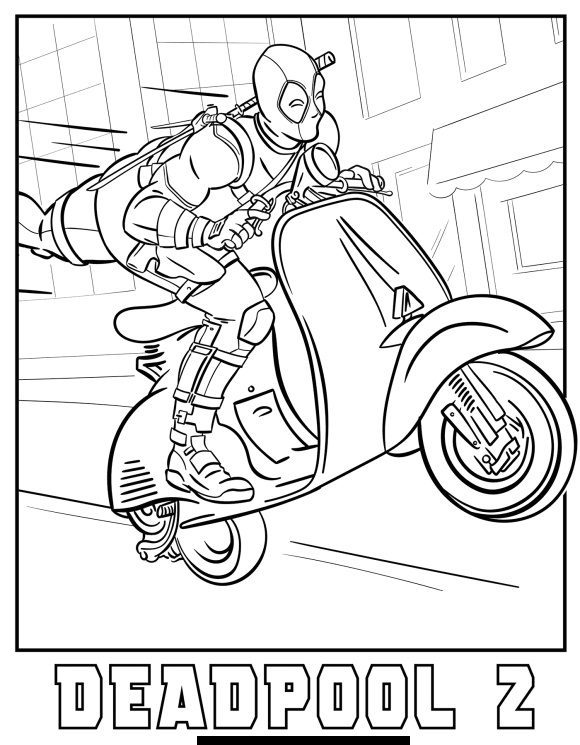 Coloring Pages Deadpool