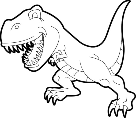 cool coloring page dinosaur 1