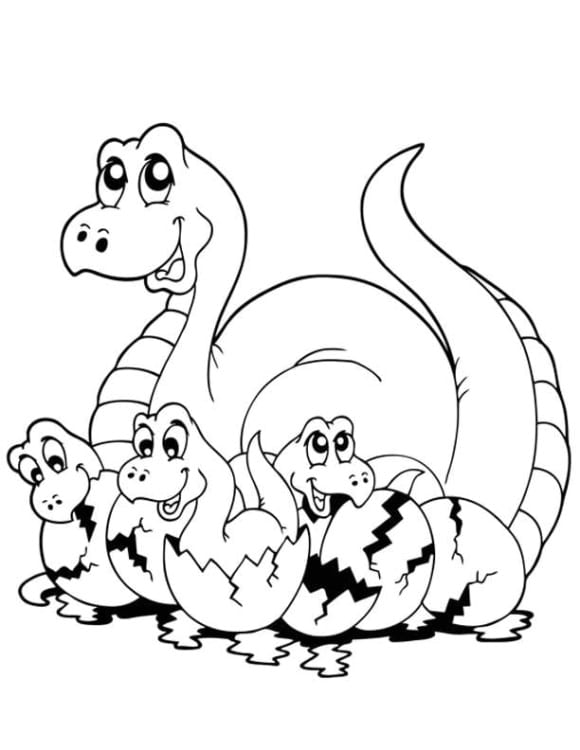 cool coloring page dinosaur