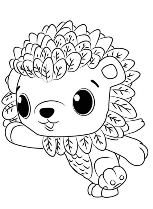 cool hatchimals coloring page