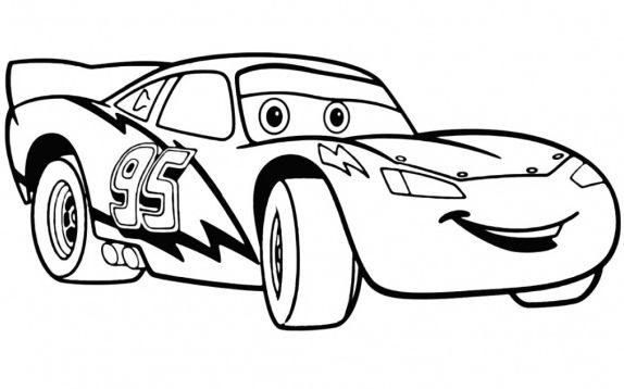 cool lightning mcqueen coloring pages 1