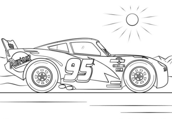 cool lightning mcqueen coloring pages