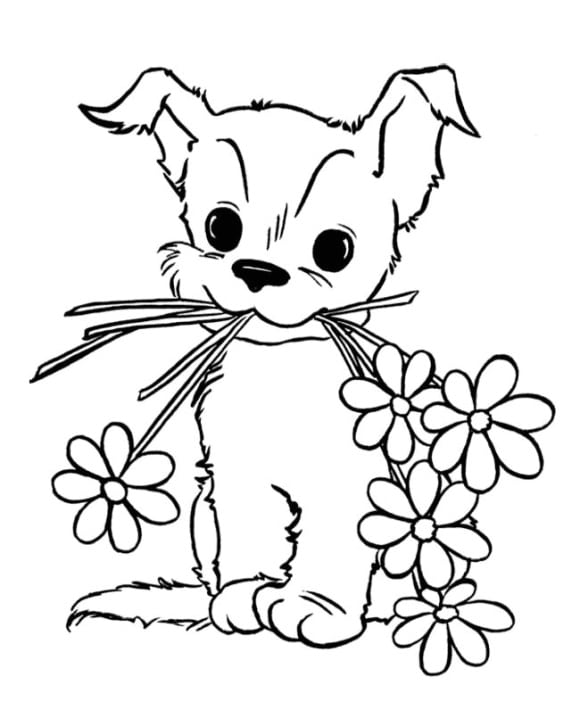 Coloring Page Puppies HD