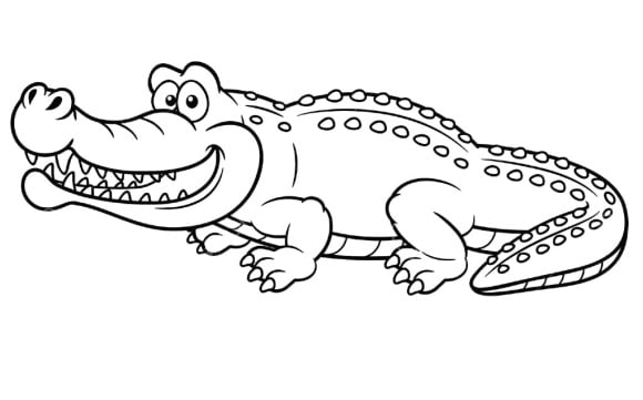inspirational alligator coloring page free 1