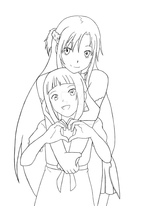 inspirational asuna sword art online coloring pages