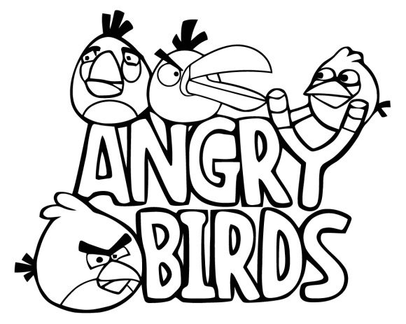 inspirational coloring page angry bird free 1
