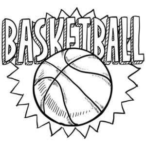 Coloring Page Basketball Free