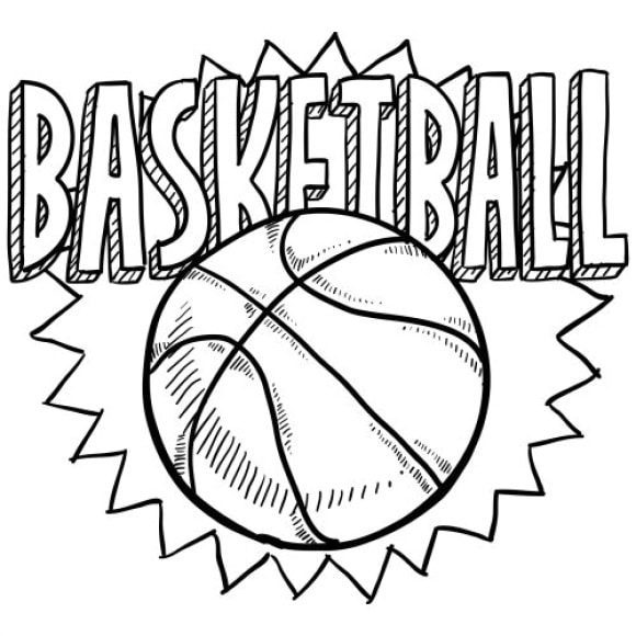 inspirational coloring page basketball free