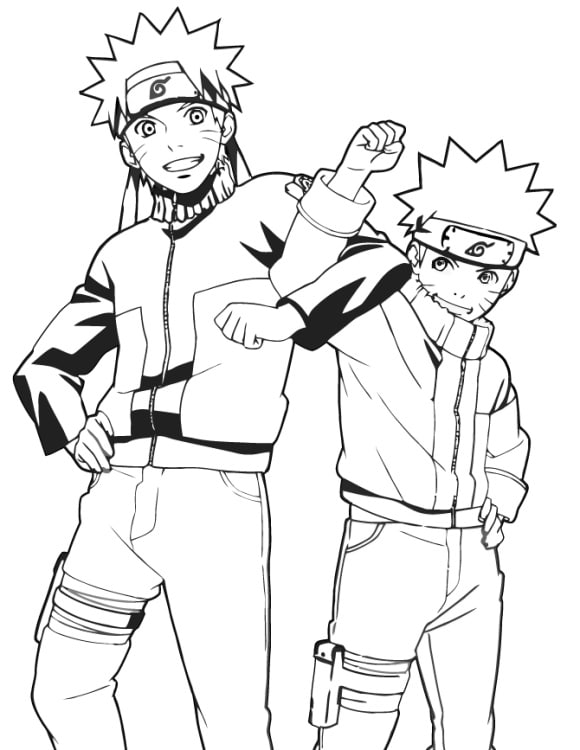 inspirational naruto coloring pages