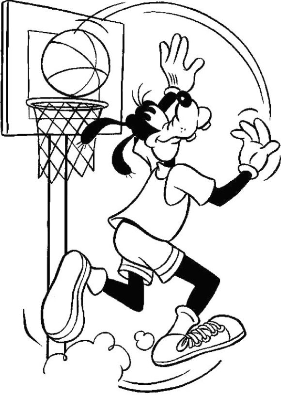 lovely coloring page basketball free 1
