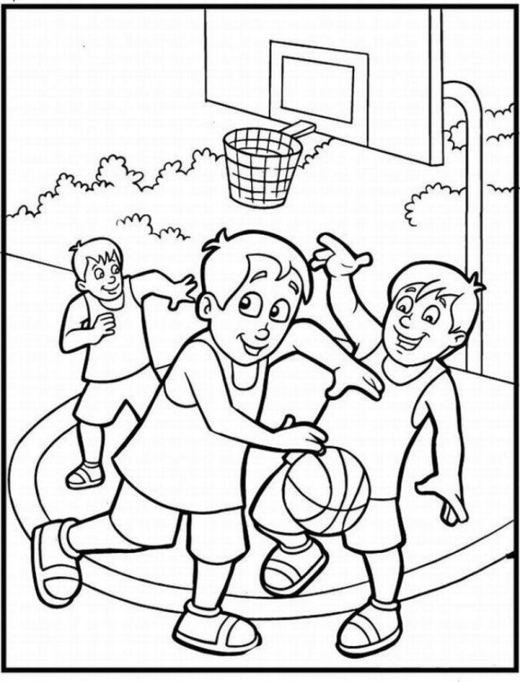 lovely coloring page basketball free