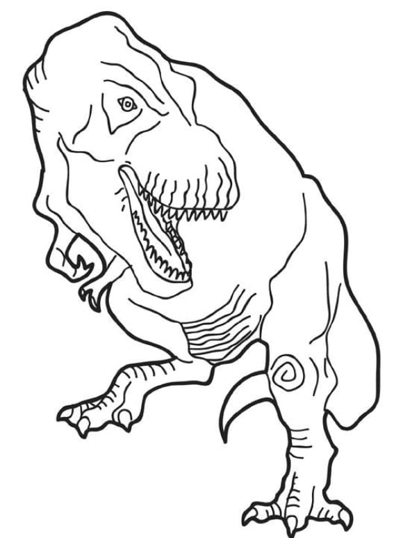 lovely coloring page dinosaur