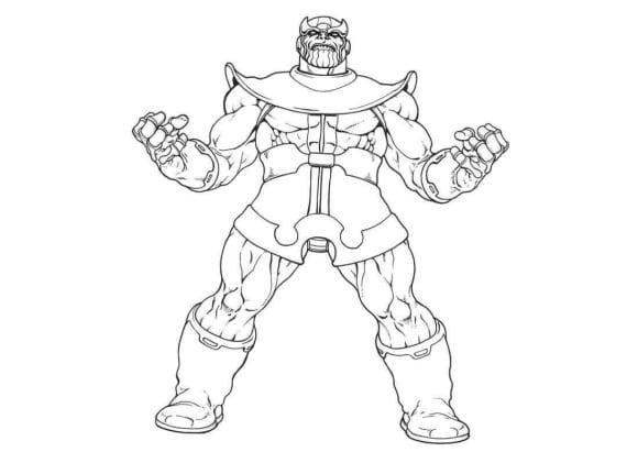 lovely fortnite coloring pages thanos