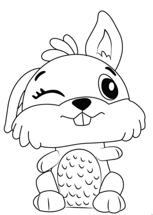 lovely hatchimals coloring page 1