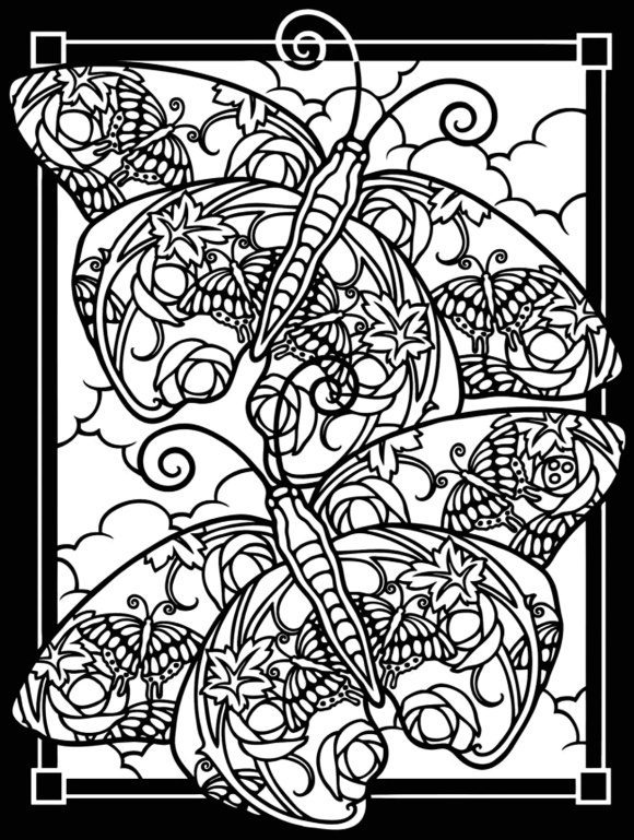 luxury butterfly coloring pages for adults