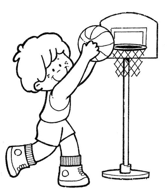 luxury coloring page basketball free