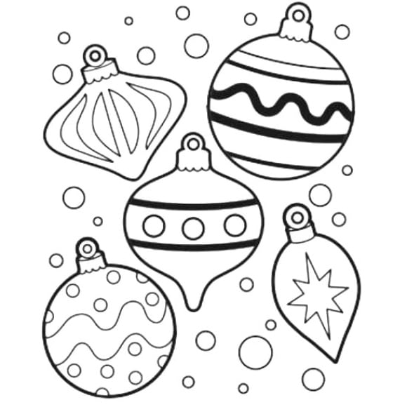 luxury coloring page christmas ornament hd 1