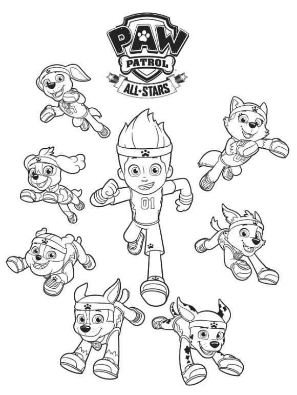 luxury coloring page paw patrol free