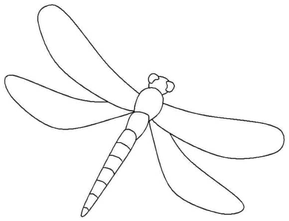 luxury dragonfly coloring page