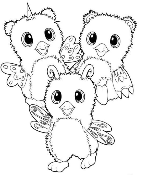luxury hatchimals coloring page