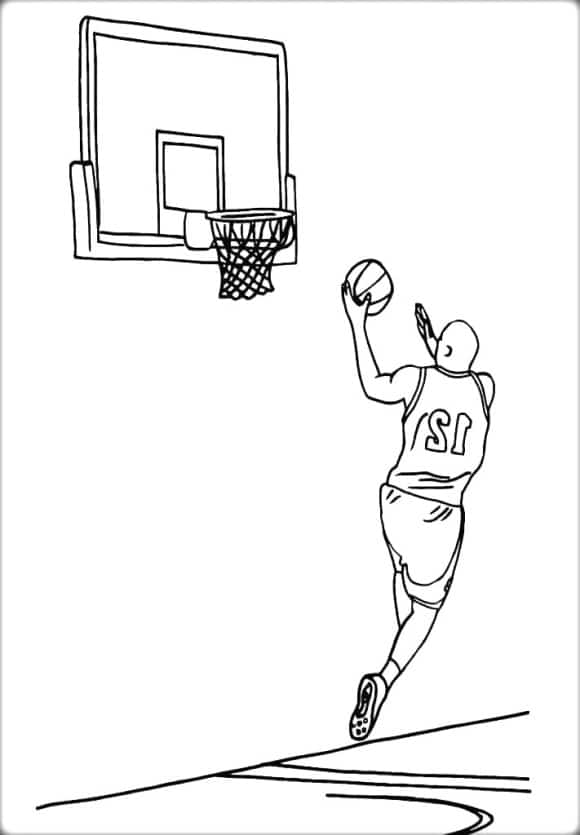 new coloring page basketball free
