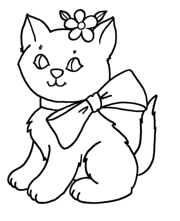 new coloring page cat free