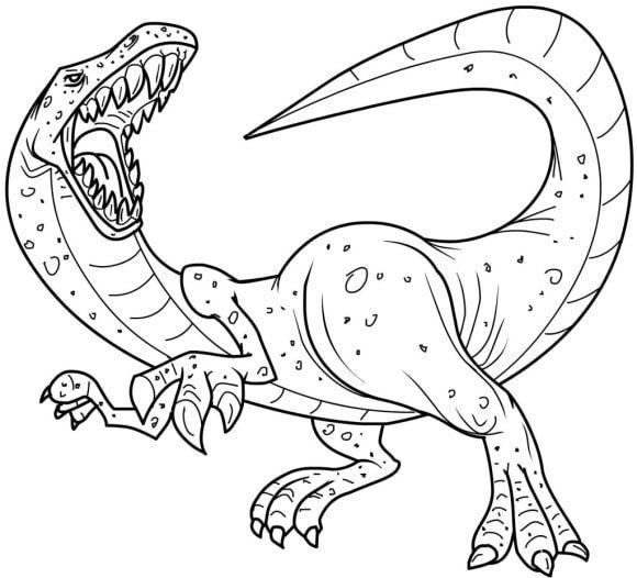 new coloring page dinosaur