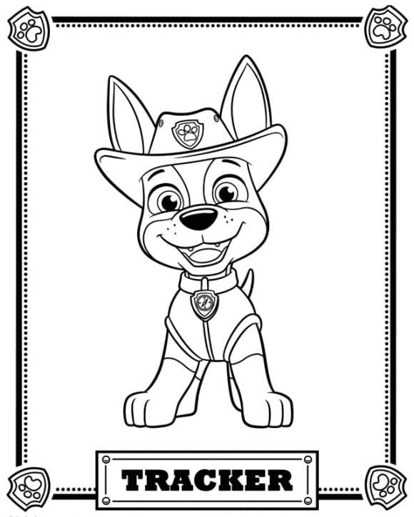 new coloring page paw patrol free