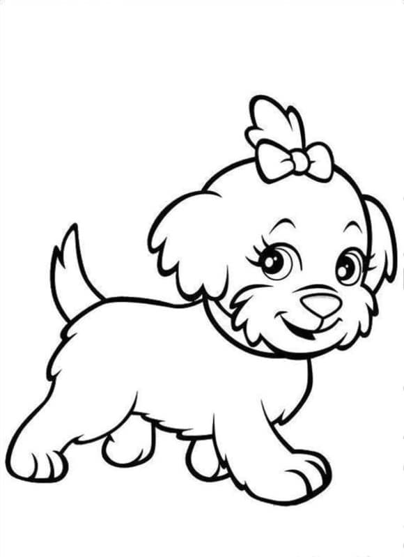 new coloring page puppies hd