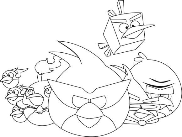 unique coloring page angry bird free