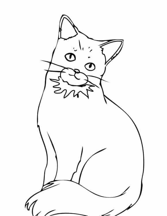 unique coloring page cats hd 1
