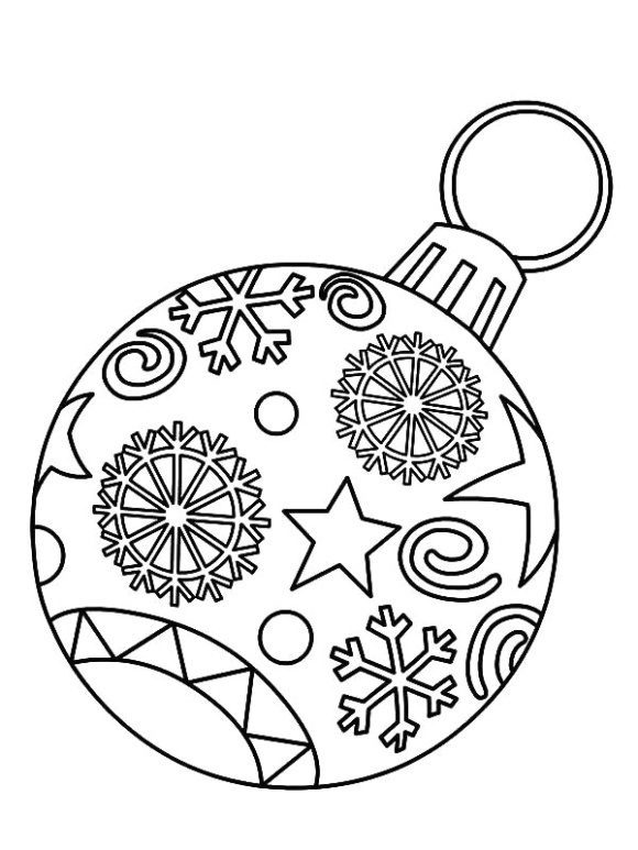 unique coloring page christmas ornament hd 1