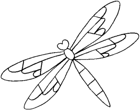 unique dragonfly coloring page