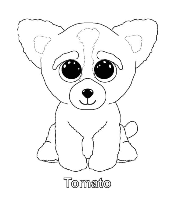 Beanie Boo Tomato Coloring Pages