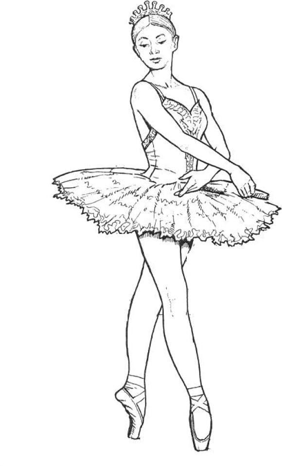 awesome coloring page ballerina hd