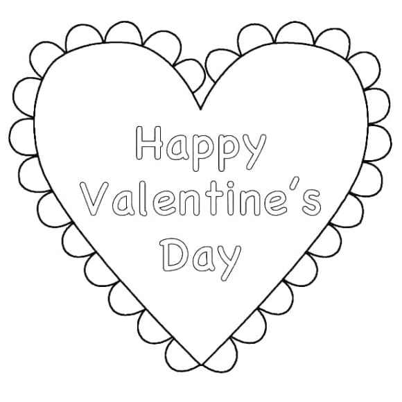 awesome coloring page of a heart printable 1