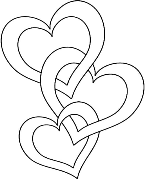 awesome coloring page of a heart printable 2
