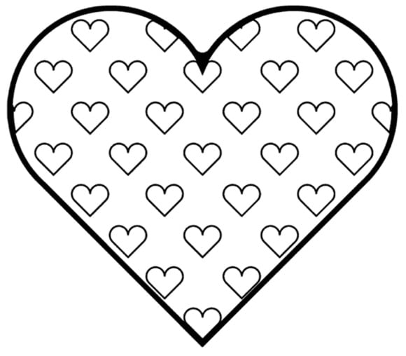 awesome coloring page of a heart printable